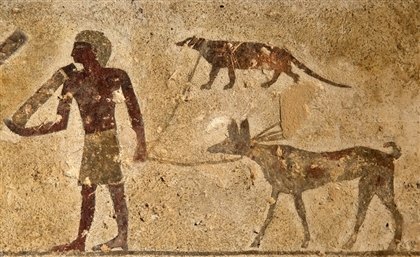 Leashed Mongoose Painting Found in Egyptian Tomb