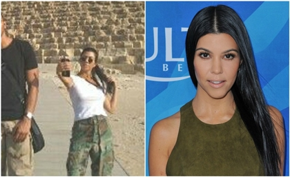 Pictures: Kourtney Kardashian Spotted at The Pyramids of Giza