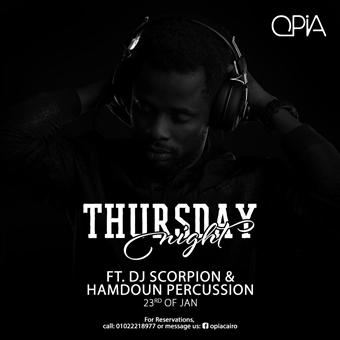 Hamdoun Percussion & Dj Scorpion @ Opia