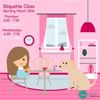 Etiquette Classes For Kids @ The Pink Elephant