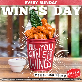 All You Can Eat Wings @   The    Tap  East