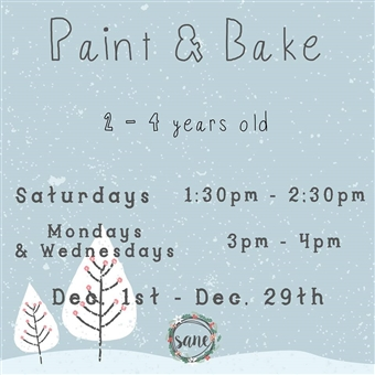 Toddler Paint & Bake @ Sane