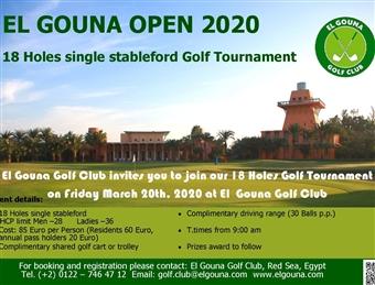 Open Golf Tournament 2020 @ El Gouna