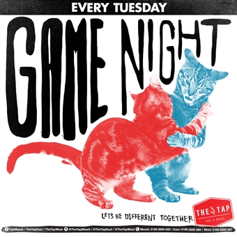 Games Night  @  The Tap West