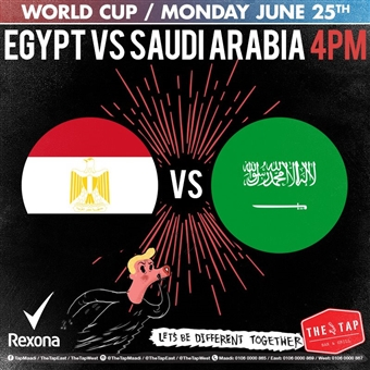 Egypt Vs Saudi Arabia @ The Tap Maadi