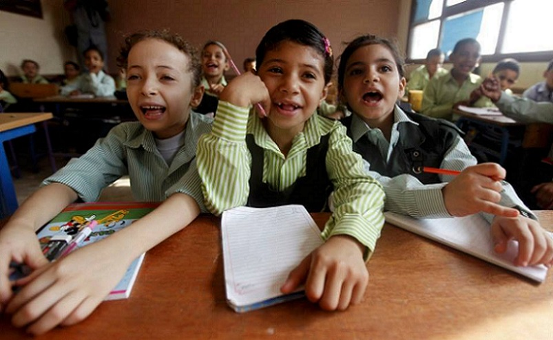 egyptian students in a school