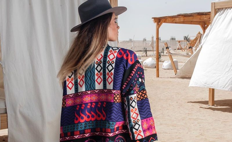 The bold, colorful prints are a timeless representation of North Africa.