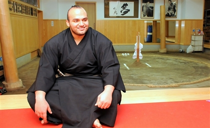 This is The First Professional Egyptian Sumo Wrestler