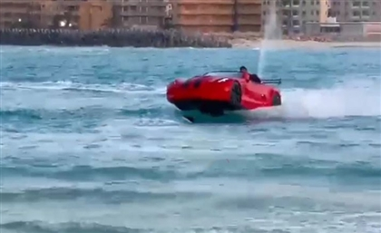 Two Brothers in Matrouh Are Turning Heads with Jet Ski 'Water Car'