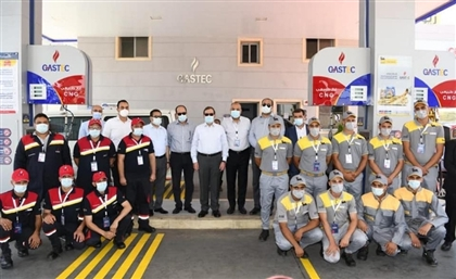 Cairo's First Fuel Station Serving Gasoline, Natural Gas & Electricity
