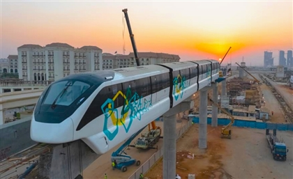 Egypt's First Monorail Cars Installed at New Administrative Capital