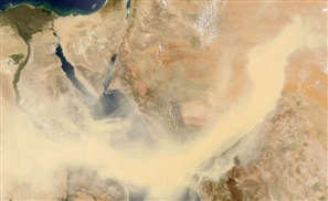 Photos: Aswan Hit by Sandstorm