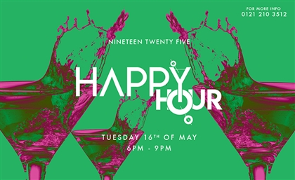 Happy Hours Are Getting Redefined at Nineteen Twenty Five This Tuesday